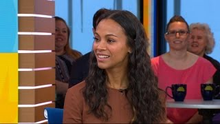 Download Zoe Saldana on raising 3 boys and her 'fan-girl' moment on 'Guardians of the Galaxy Vol. 2' set Video