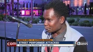 Download Street performer attacked on Las Vegas Strip Video
