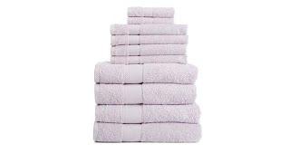 Download Concierge Collection Egyptian Cotton 10piece Bath Towel ... Video