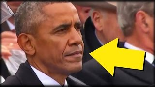Download LOOK: EVERYONE NOTICES 1 DETAIL ABOUT OBAMA DURING TRUMP'S INAUGURATION SPEECH Video