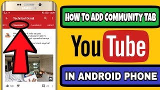 Download HOW TO ADD COMMUNITY TAB ON YOUTUBE CHANNEL IN ANDROID PHONE Video