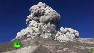 Download Horrifying beauty: Indonesia volcano erupts with smoke Video