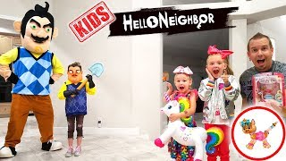 Download Hello Neighbor Kid in Real Life Steals My JoJo Bow Bow Twisty Petz! Toy Scavenger Hunt! Video