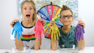 Download MYSTERY WHEEL OF SLIME GLOVES CHALLENGE!!! Video