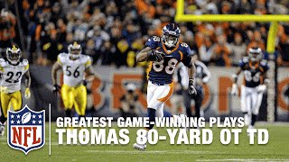 Download Tebow to Demaryius Thomas for 80-Yard OT TD | Steelers vs. Broncos | 2011 AFC Wild Card Highlights Video