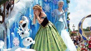 Download Disney Festival of Fantasy Parade 2015 w/Rapunzel & Flynn, FROZEN Anna & Elsa, Mickey & Minnie Video