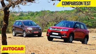 Download Maruti Vitara Brezza VS Ford EcoSport | Comparison Test | Autocar India Video