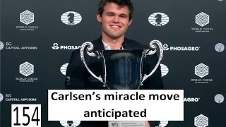 Download Carlsen's miracle move anticipated - Magnus and the Chameleon Video