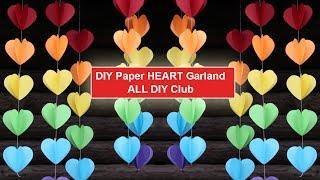Download DIY No-Sew Paper Heart, Star and Raindrop Garlands   Lovely 3D Heart Paper Garlands Video