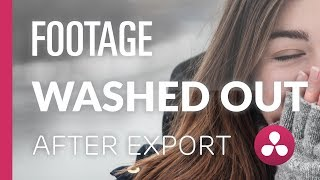 Download Washed Out Exports | Davinci Resolve Tutorial Video