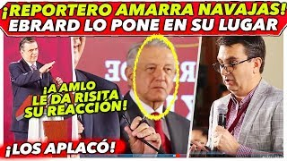 Download EBRARD PONE EN SU LUGAR A REPORTERO EN LA MAÑANERA DE AMLO Video