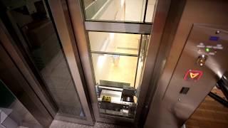 Download Sweden, Stockholm, Stuvsta railway station, 1X KONE elevator, 1X escalator -going to street level Video