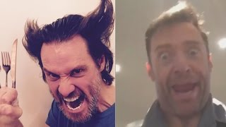 Download MUST SEE! Jim Carrey and Hugh Jackman Do Spot On Impressions Of Each Other! Video
