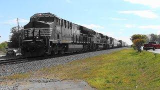 Download NS 172 rolls east through Bremen, Ga. Video