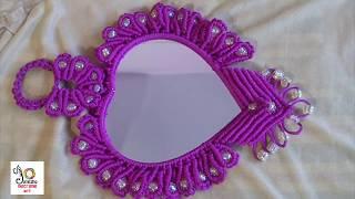 Download Macrame Heart Shape Mirror | Simple Macrame Mirror Video
