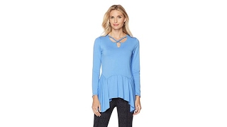 Download That Woman! by Marlo Thomas Peplum Top with Beaded Detail Video