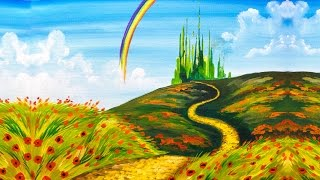 Download Emerald City Step by Step Acrylic Painting on Canvas for Beginners Video