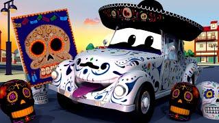 Download A Super Patrulha - O carro esqueleto (Dia dos Mortos) - Cidade da Carro 🚓 🚒 Desenhos Animados Video