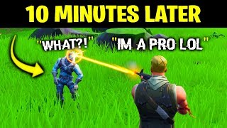 Download I Pretended To Be A NOOB, Then DESTROYED Him.. (Fortnite) Video
