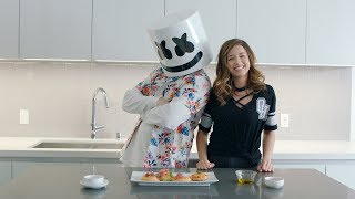 Download Making MINI PIZZA with POKIMANE | Cooking With Marshmello Video