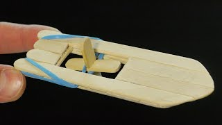Download How to Make an Elastic Band Paddle Boat Video