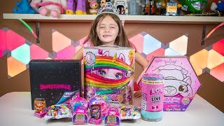 Download Happy Birthday Emily Unicorn Presents Toys Pikmi Pops Surprise Blind Bags for Girls Kinder Playtime Video