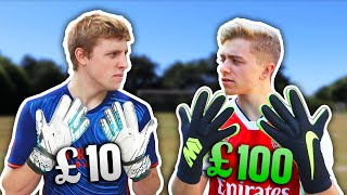 Download £10 Goalie Gloves Vs. £100 Pro Goalie Gloves | ft. W2S Video