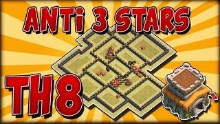 Download Diseño anti 3 estrellas th8 + REPETICIONES   Guerra de clanes   Best th8 anti 3 strars war base Video
