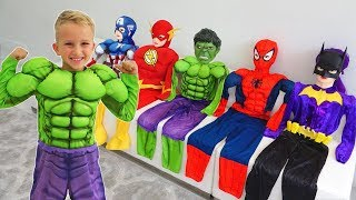 Download Vlad turns into a superheroes | Compilation video for children Video