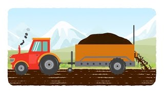 Download tractor | tractor cartoons | kids agriculture cartoon | videos for babies Video