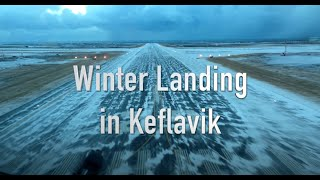 Download Winter landing in Keflavik Iceland Video