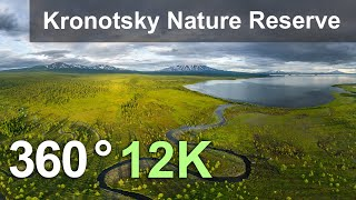 Download Kronotsky Nature Reserve, Kamchatka, Russia. Aerial 360 video in 12K Video