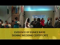 Download Evidence of Eunice Njeri signing wedding certificate Video