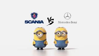 Download Scania vs Mercedes Minions Style ( Funny ) Video