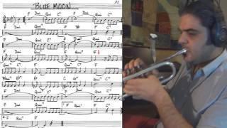Download Blue Moon - trumpet cover (slow theme tutorial) Video