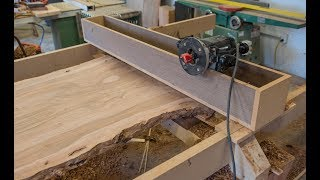 Download Woodworking, How To Flatten A Live Edge Slab Video