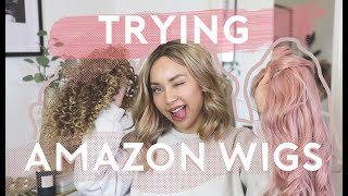 Download TRYING WIGS I BOUGHT FROM AMAZON?! 😂 Video