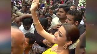Download Kajal Agarwal Troubled by Uncontrollable Crowd in Chennai Shopping Mall Video