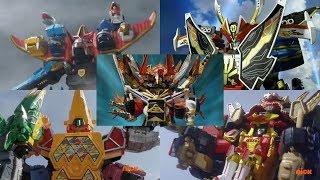 Download Power Rangers - All Neo-Saban Ultrazords   Samurai, Megaforce, Dino Super Charge, & Ninja Steel Video