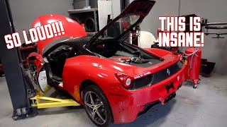 Download My Ferrari 458 is ALIVE! First Start and Rev's!!! Video