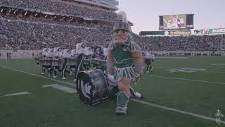 Download Sparty with the Drumline Video