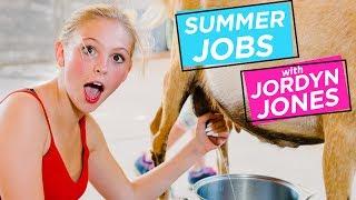 Download JORDYN JONES MILKS A GOAT | Summer Jobs w/ Jordyn Jones Video