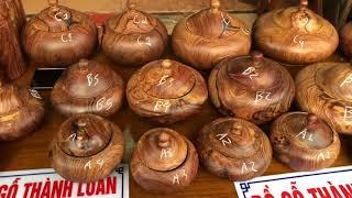 Download Hũ hạt dưa gỗ cẩm và hộp trà hộp bánh kẹo gỗ trắc(dogothanhluan)21-12-2018 Video