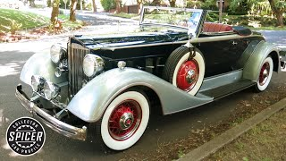 Download 1934 Packard 1101 Eight Cabriolet Video