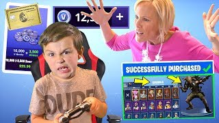 Download Kid Spends $200 on Fortnite and Buys 27,000+ V Bucks and Mom FREAKS OUT [MUST WATCH] | DavidsTV Video