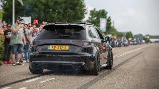 Download Audi RS3 8V Sportback w/ Decat Armytrix Exhaust - LOUD Revs, Launch Controls & Crackles ! Video
