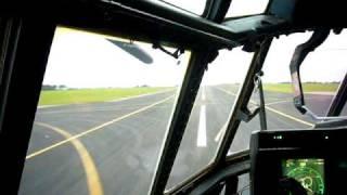 Download Hercules C-130 landing at RAF Lyneham - Cockpit View Video