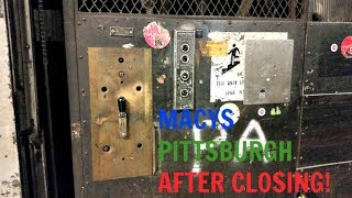 Download Exclusive! Manually Controlled Otis Freight Elevators - Former Kaufmann's/Macys - Pittsburgh, PA Video