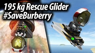 Download Mun Rescue Glider #SaveBurberry (Tutorial: 29) Kerbal Space Program (KSP) 1.2 Stock Parts Video