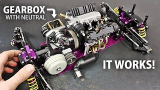 Download Making a DRIVETRAIN and Installing the Micro V4 ENGINE on the RC Car! Video
